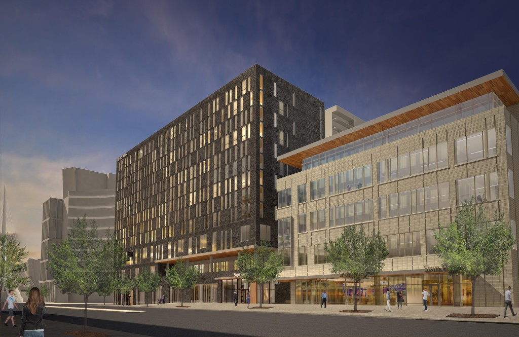 mage of the future Kimpton Hotel with five story office component that will be located adjacent to the Union Station train platform on 16th Street and Wewatta. Image courtesy Kimpton Hotels & Restaurants
