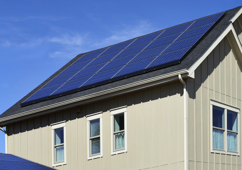 Artizen Home with solar panels. image Courtesy Center Reach Communications