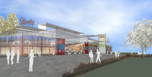 Rendering of the redeveloped Stanley Marketplace. Courtesy b public relations.
