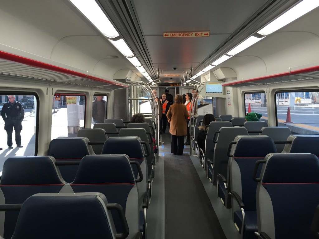 Inside view of the RTD Commuter Rail Car