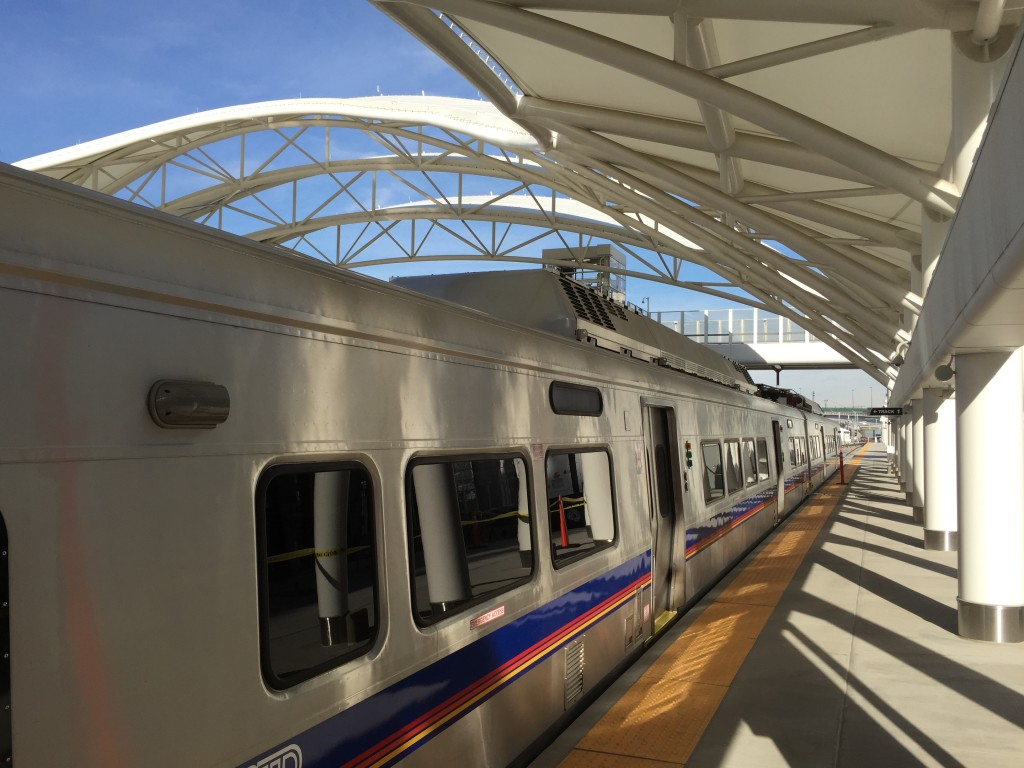 Exterior view of the RTD Commuter Rail Car
