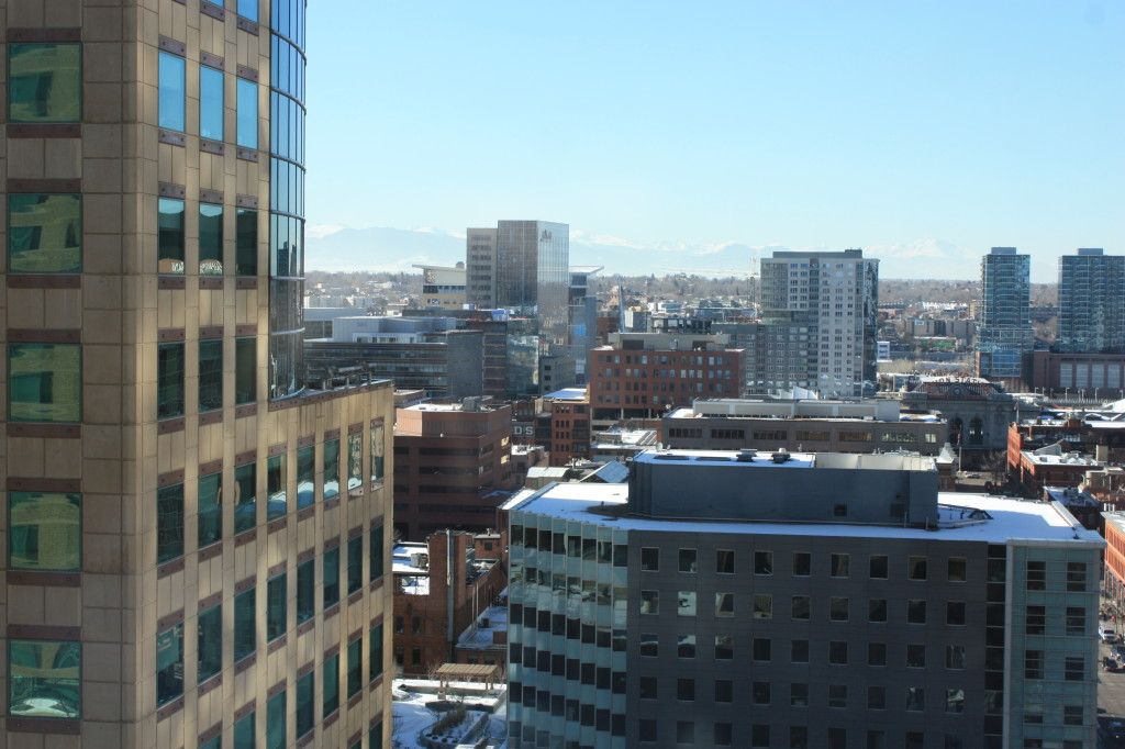Downtown Denver looking towards the northwest March 2015.