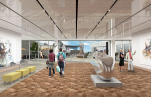 Rendering of 4th floor lobby at ART Hotel. Image courtesy J Public Relations