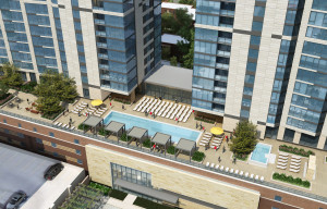 Rendering of Country Club Towers. Image courtesy The Broe Group.