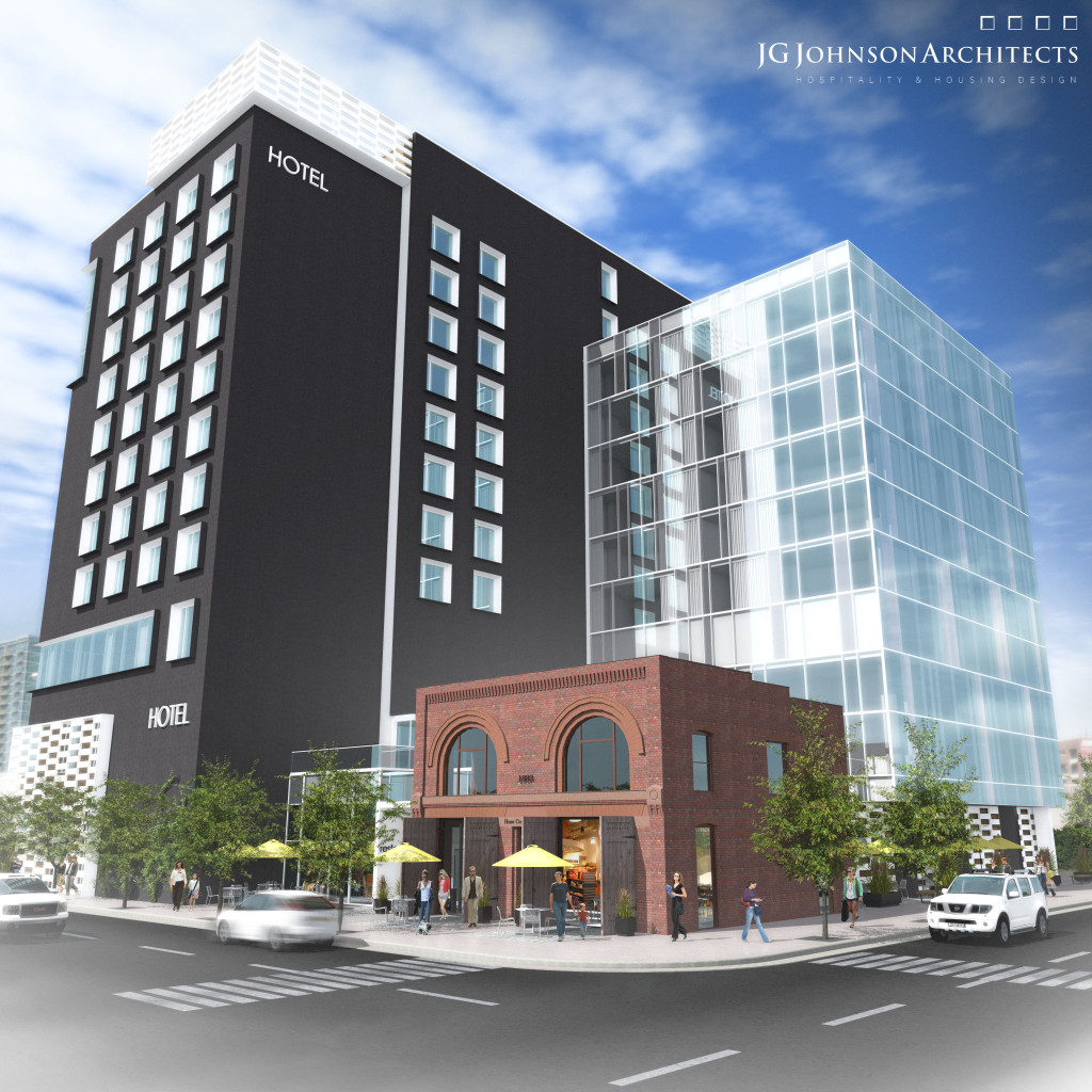 Rendering of Hilton Garden  Inn that is planned for Denver's Union Station neighborhood. Image courtesy Focus Property Group.