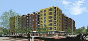 Rendering of AMLI Riverfront Green Denver. Image courtesy AMLI Residential.