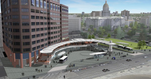Rendering of renovations to Civic Center Station. Courtesy RTD.