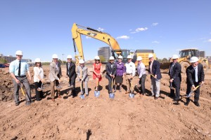 The Development team breaks ground on One Belleview Station. Courtesy Prime West.