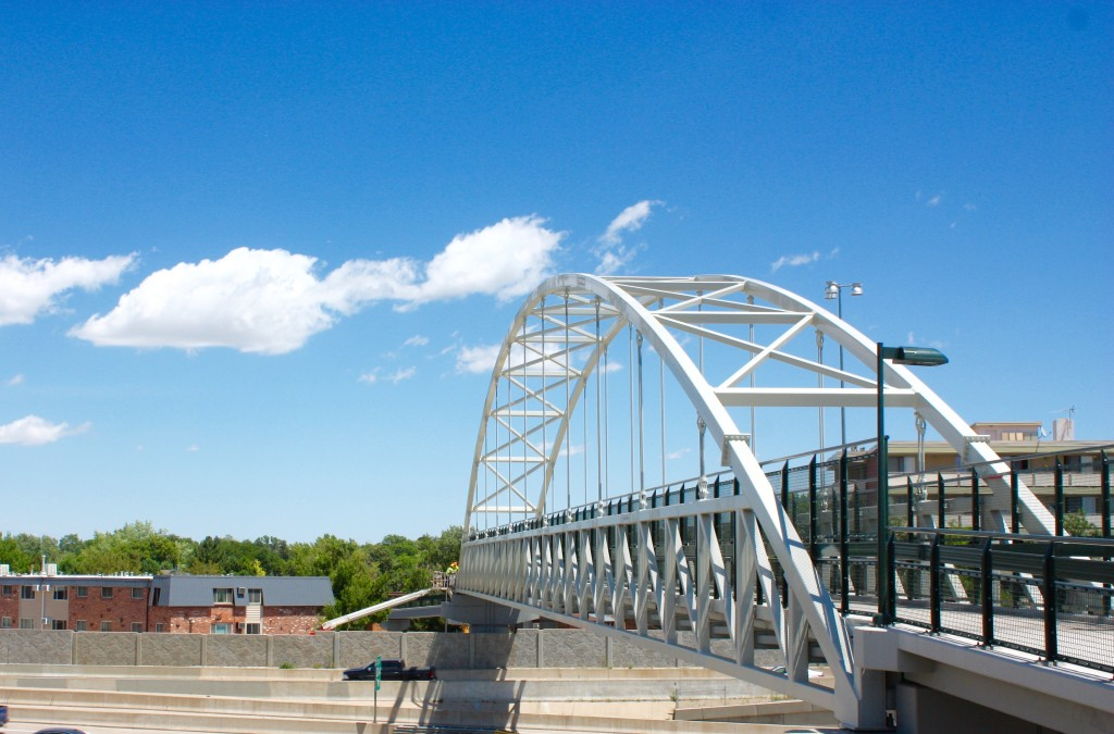 Colorado Center I-25 pedestrian bridge.