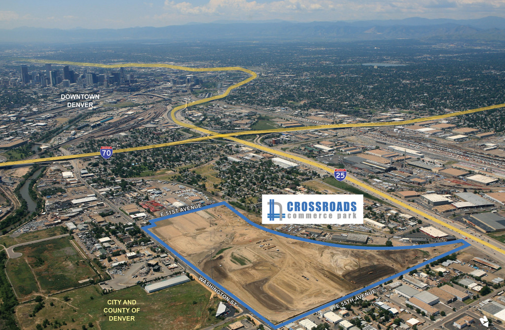 Image of Crossroads Commerce Park. Courtesy Trammell Crow Company.