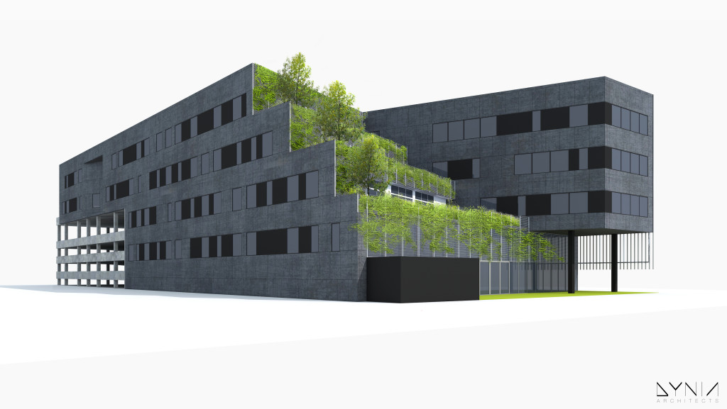 Rendering of Gauge courtesy Dynia Architects.