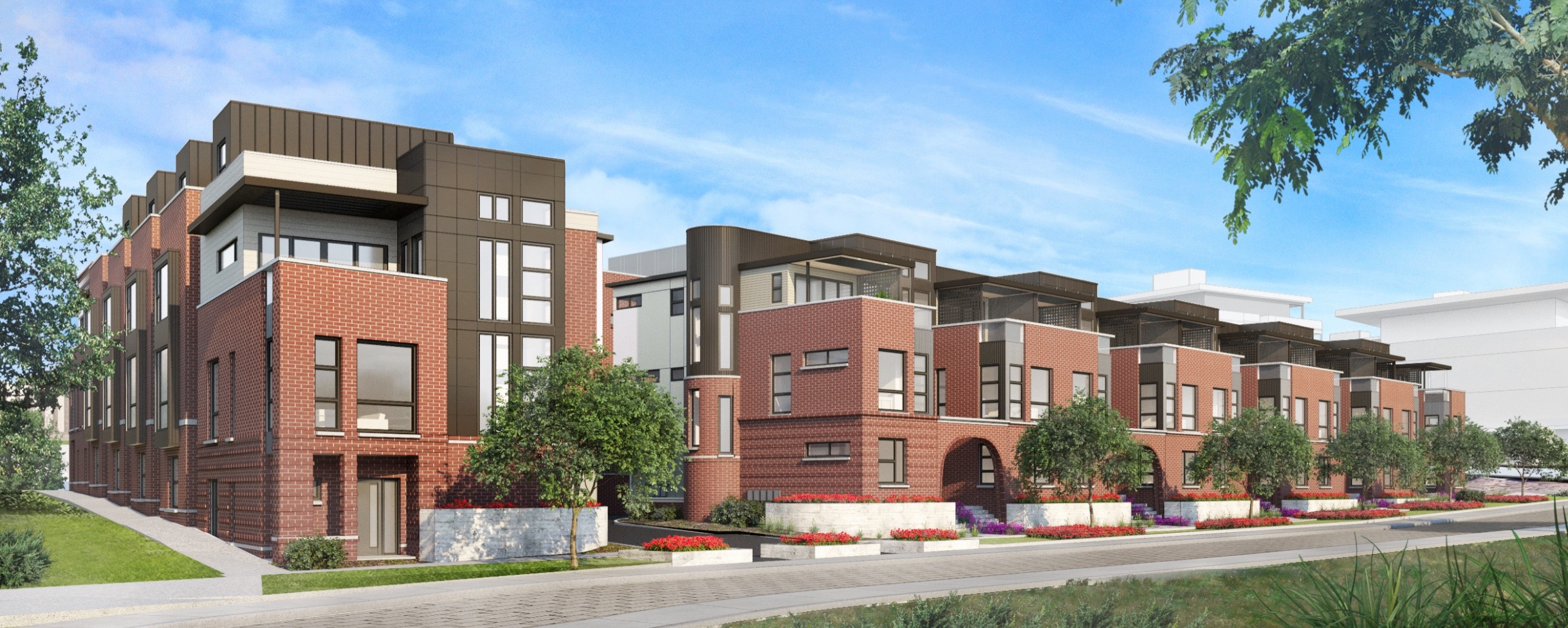 23 unit townhome project for rino denver urban review for Townhome layouts