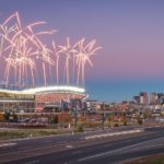 Sunday night Football nfl denver denverbroncos football fireworks skyline architecturehellip