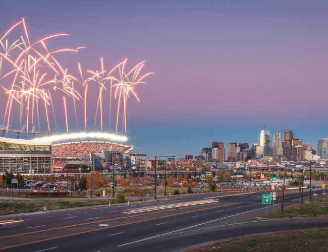 Denver Broncos Skyline
